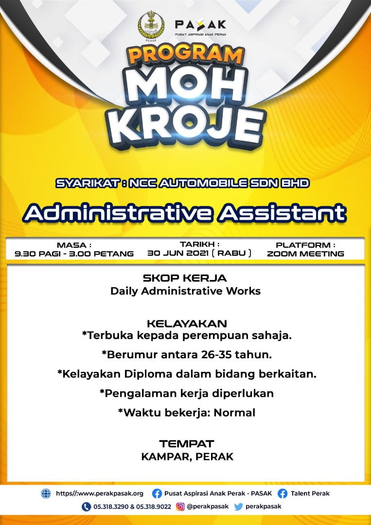 NCC - Administrative Assistant