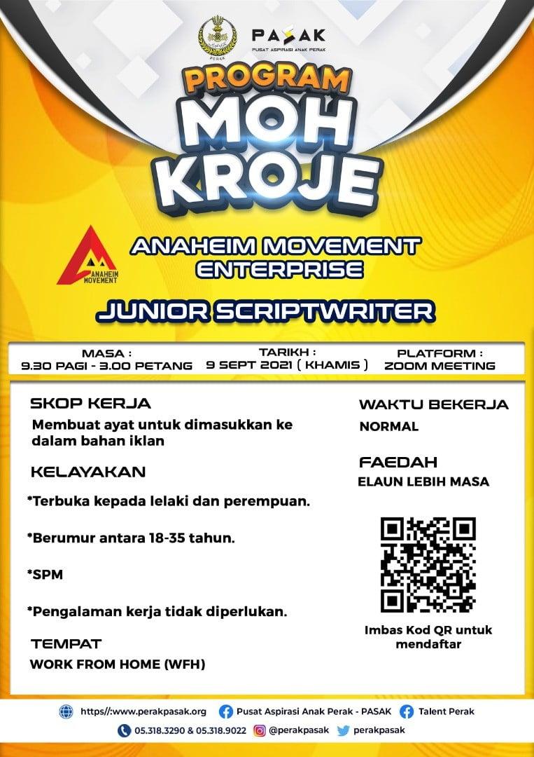 Junior Scriptwriter