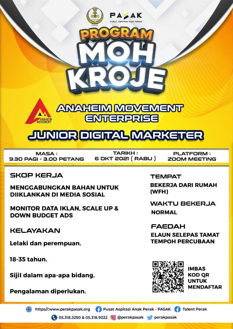 Anaheim Movement Enterprise - Junior Digital Marketer