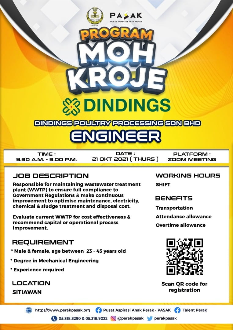 DINDINGS POULTRY PROCESSING SDN BHD - Engineer