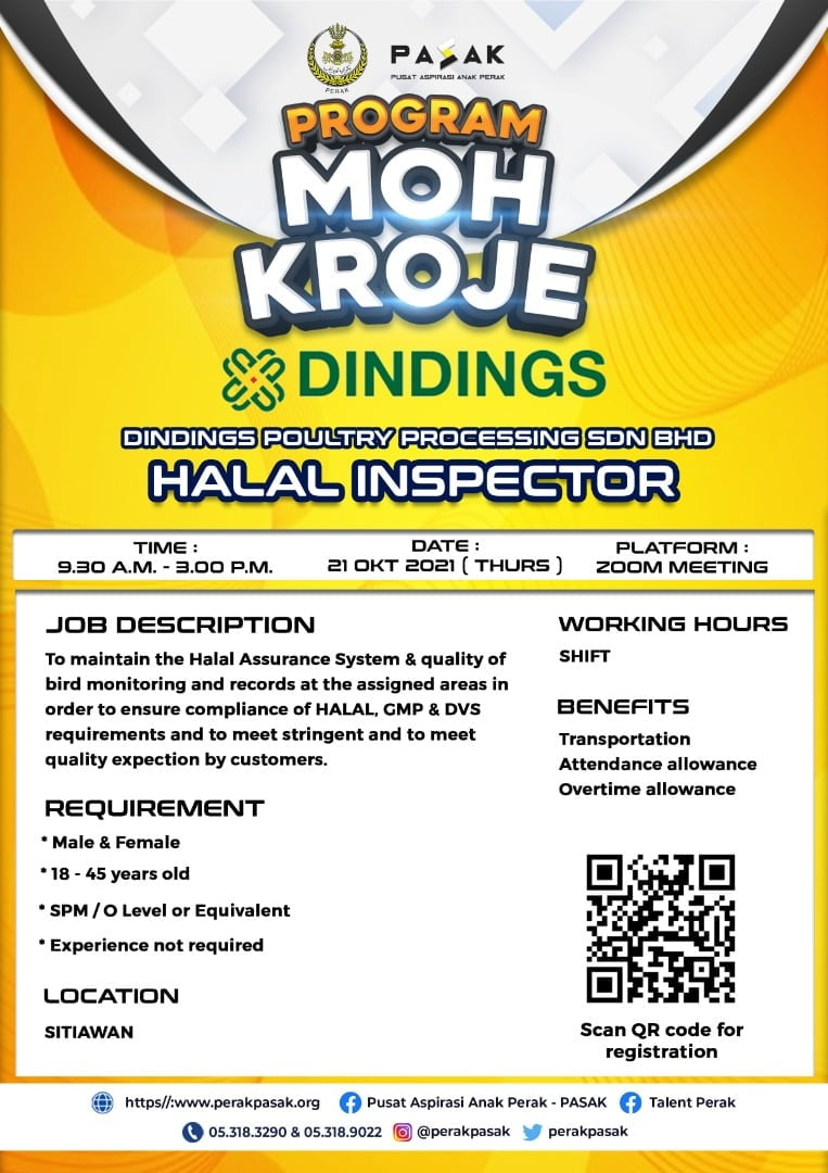 DINDINGS POULTRY PROCESSING SDN BHD - Halal Inspector