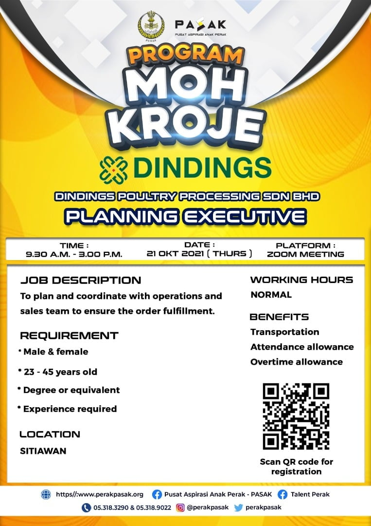 DINDINGS POULTRY PROCESSING SDN BHD - Planning Executive