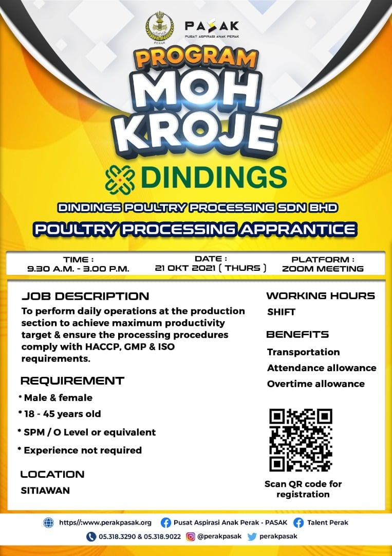 DINDINGS POULTRY PROCESSING SDN BHD - Poultry Processing Apprantice