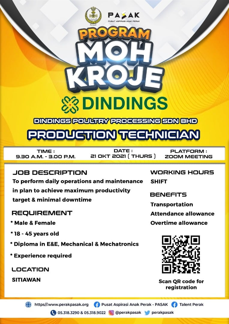DINDINGS POULTRY PROCESSING SDN BHD - Production Technician