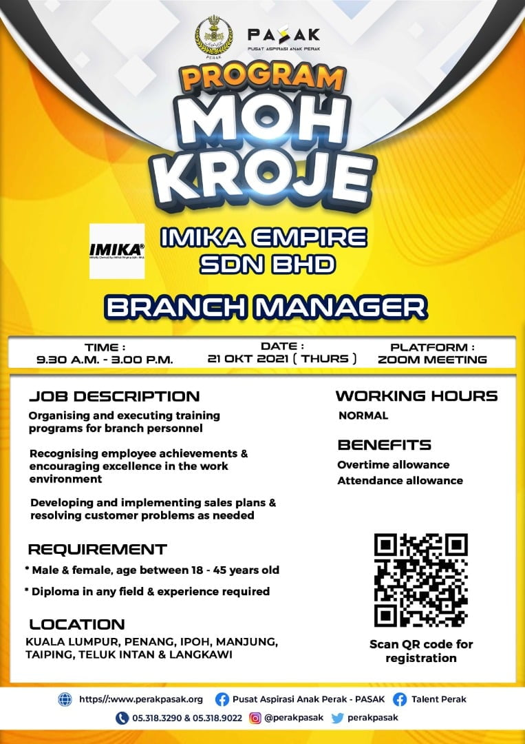 IMIKA EMPIRE SDN BHD - Branch Manager