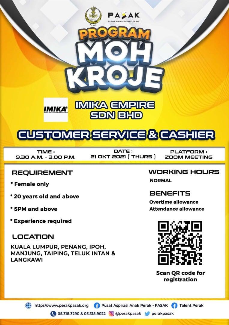 IMIKA EMPIRE SDN BHD - Customer Service & Cashier