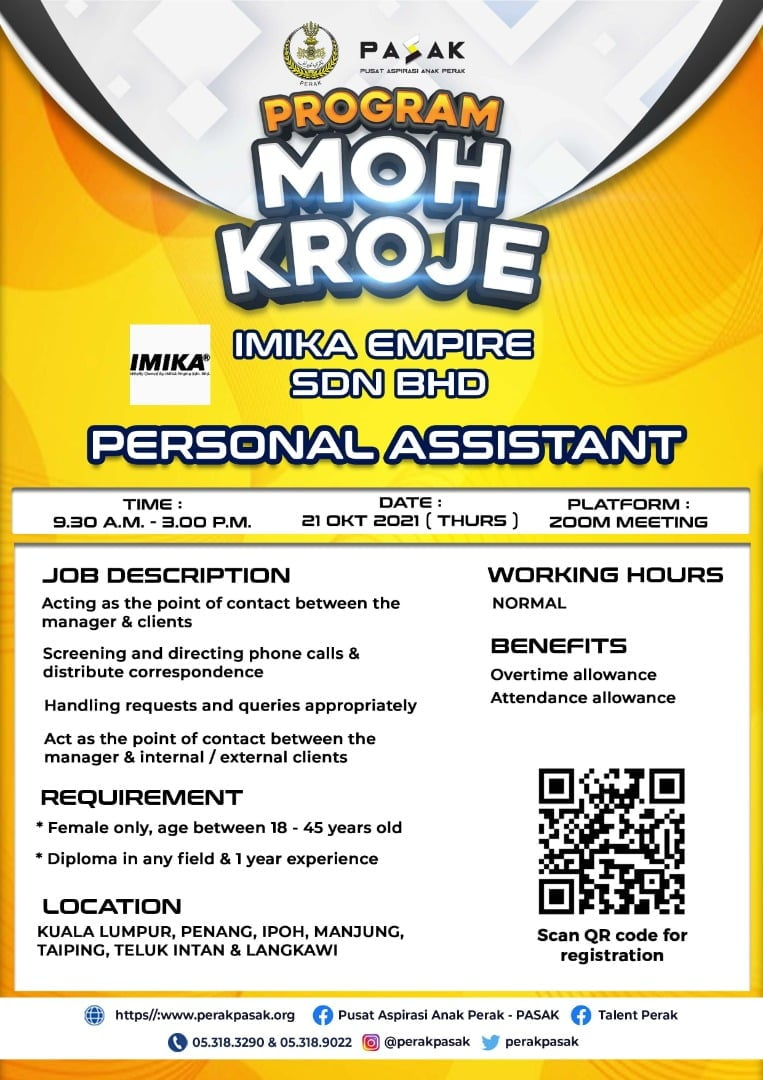 IMIKA EMPIRE SDN BHD - Personal Assistant